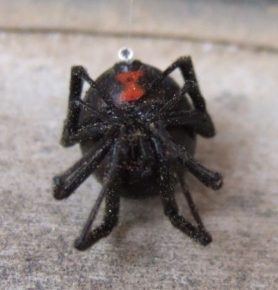 Picture of Latrodectus hesperus (Western Black Widow) - Female - Ventral